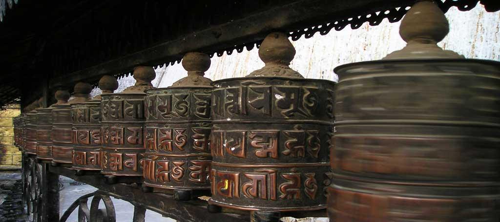 Tibetische-Gebetsmuhlen